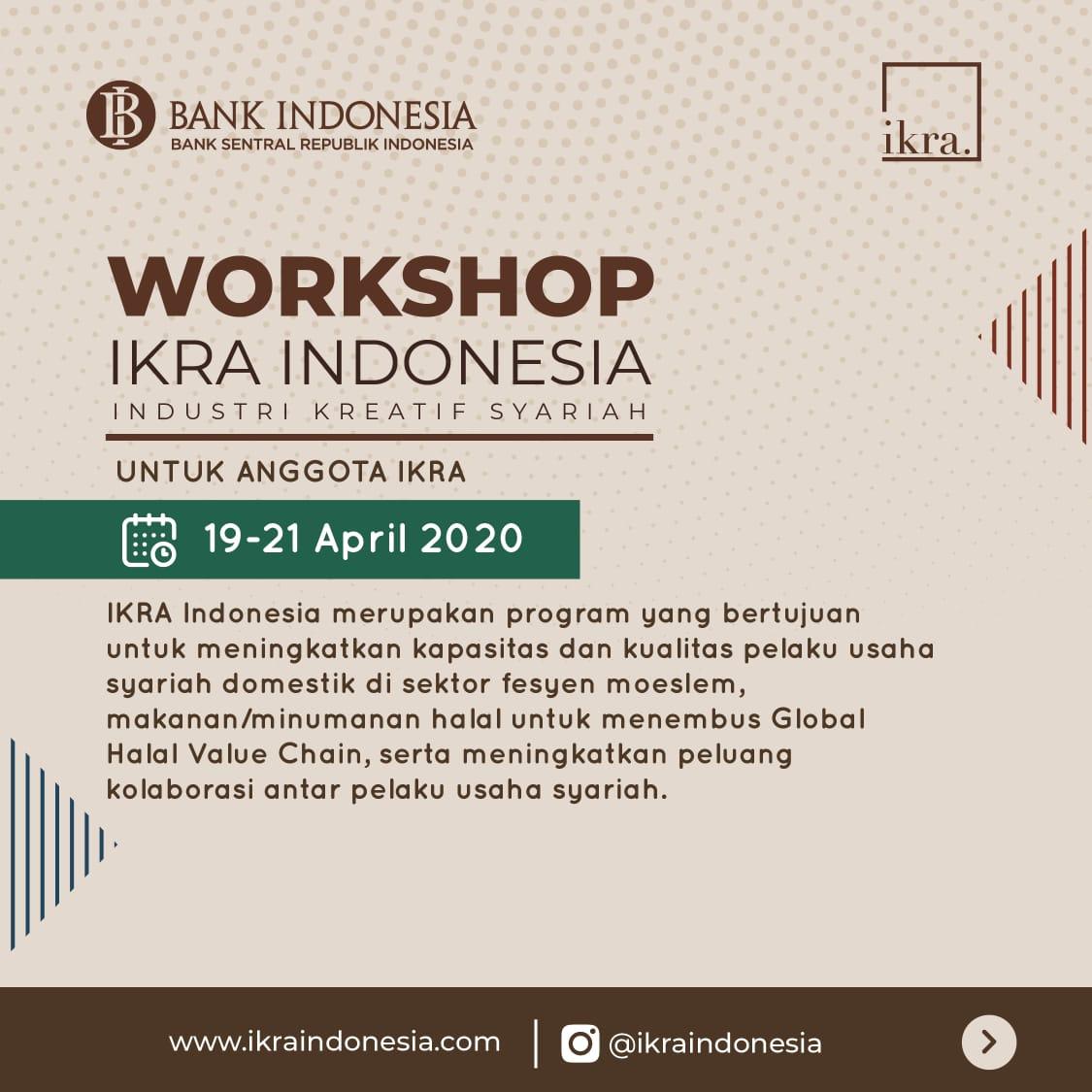 IKRA Indonesia Gelar Workshop Berbentuk Kelas Online